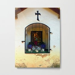 The old traditional forest chapel in detail Metal Print