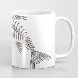 King Salmon Skeleton Drawing Coffee Mug