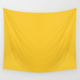 Canary Yellow - Solid Color Collection Wall Tapestry