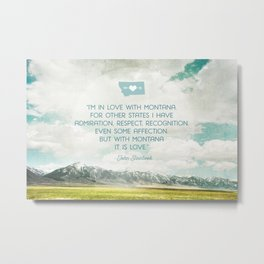 In Love with Montana Metal Print