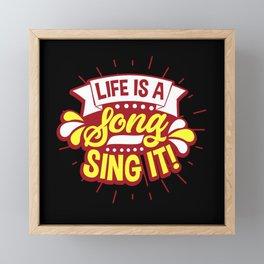 Sing Singers Framed Mini Art Print