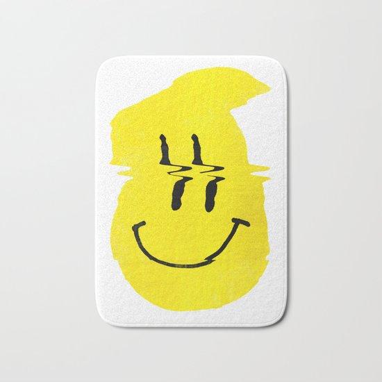 Smiley Glitch Bath Mat