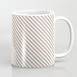 Warm Taupe Stripe Coffee Mug