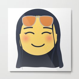 Nico Robin Emoji Design Metal Print