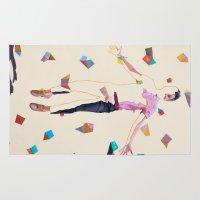 queer Area & Throw Rugs featuring Midsumma by Kim Leutwyler