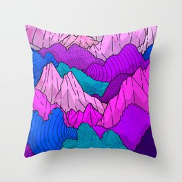 The night time hills Throw Pillow