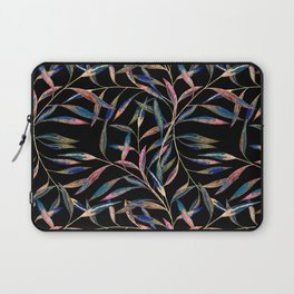 Bright sprigs on a black background. Laptop Sleeve