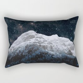 Mountains Attracts Galaxy Rectangular Pillow