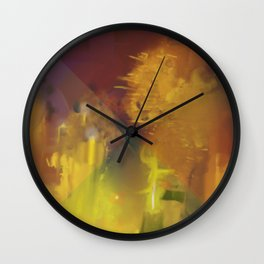 Reflections on Glass Wall Clock
