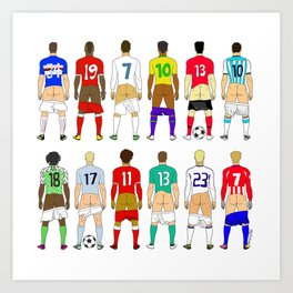 Soccer Butts Art Print