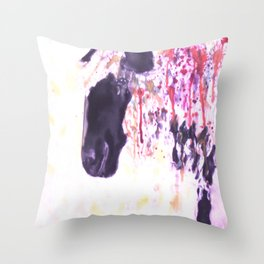 Pink Drips Sheep Throw Pillow