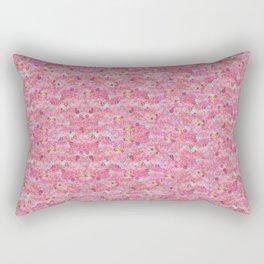 Chirimen Floral Pink Rectangular Pillow
