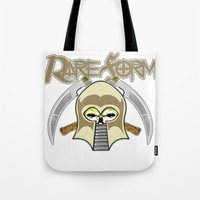 rare Tote Bags featuring RARE FORM by DaeSyne Artworks