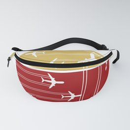 Flying Air Planes Fanny Pack