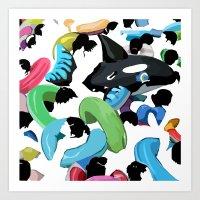 pool Art Prints featuring Pool by kiwiroom