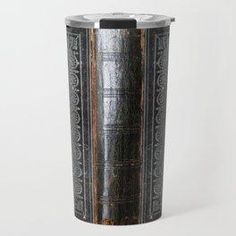 Black Antique Book Travel Mug