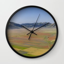 The valley of Castelluccio di Norcia Wall Clock