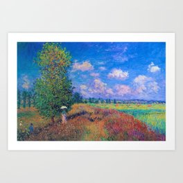Poppy Field in Summer by Claude Monet Art Print
