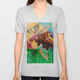Fantastic Moose - Animal - by LiliFlore Unisex V-Neck