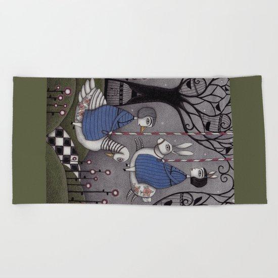 Merry-go-round Beach Towel