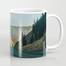 Foggy Autumn Morning Mountain Road Coffee Mug