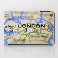 london map iPad Cases featuring London Map by Brian Raggatt