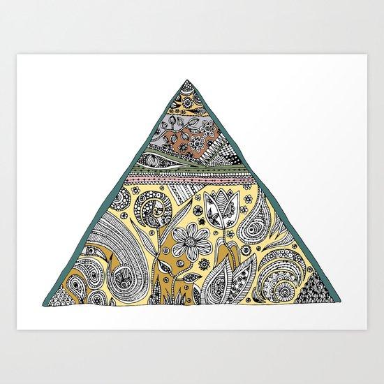 Triangle - Neutral Art Print