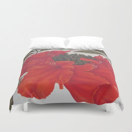Spathodea Campanulata Duvet Cover