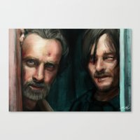 walking dead Canvas Prints featuring Dead Walking by Sketchy_Chris