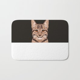 Ripley - Tabby Cat cute cat gifts for cat people and cat lady gift ideas for the cat lover  Bath Mat