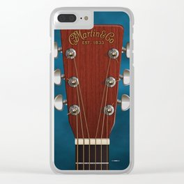 HEADSTOCK ART - MARTIN GUITAR Clear iPhone Case
