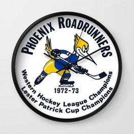 In color Phoenix Roadrunners vintage style Wall Clock