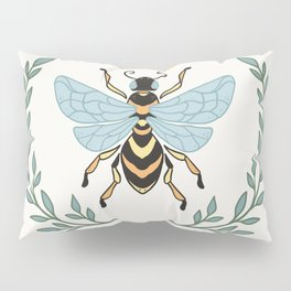 Queen Bee with Gold Crown and Laurel Frame Pillow Sham