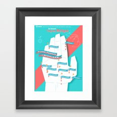 My Hand is a Map! Framed Art Print