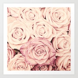 Some people grumble I Floral rose roses flowers pink Art Print
