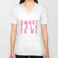 donuts V-neck T-shirts featuring Donuts by lastminutebinge