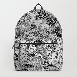 floral dots monochrome Backpack