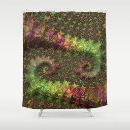Fractal Spirals Shower Curtain