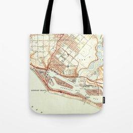 Vintage Map of Newport Beach California (1951) Tote Bag