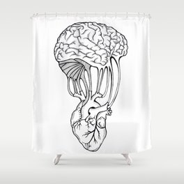 Mind and spirit connection Shower Curtain