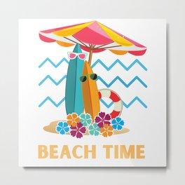 Surfing Beach Time Metal Print