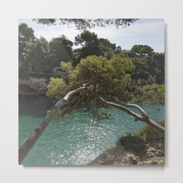 Tranquil Bay at Mallorca Island Metal Print