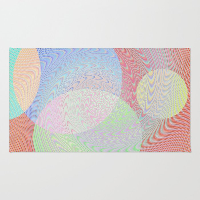 Re-Created Twisters No. 2 by Robert S. Lee Rug