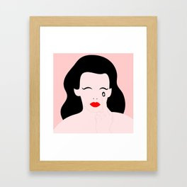 giving the right amount of f*cks Framed Art Print
