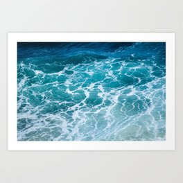 Ocean Waves in Hawaii Art Print