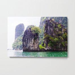 Cliffs in Thailand Metal Print