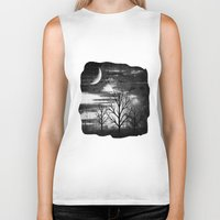 silence of the lambs Biker Tanks featuring silence by haroulita