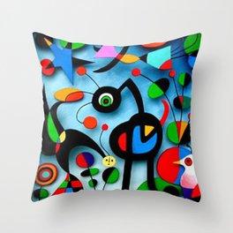 The Garden by Miro Throw Pillow