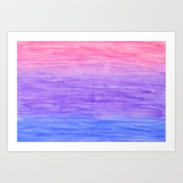 Blue, purple and pink gradient Art Print