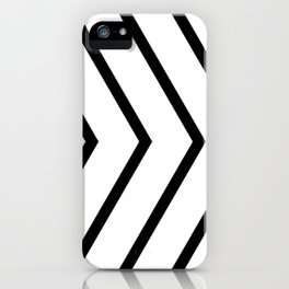 Black arrows on white background. iPhone Case